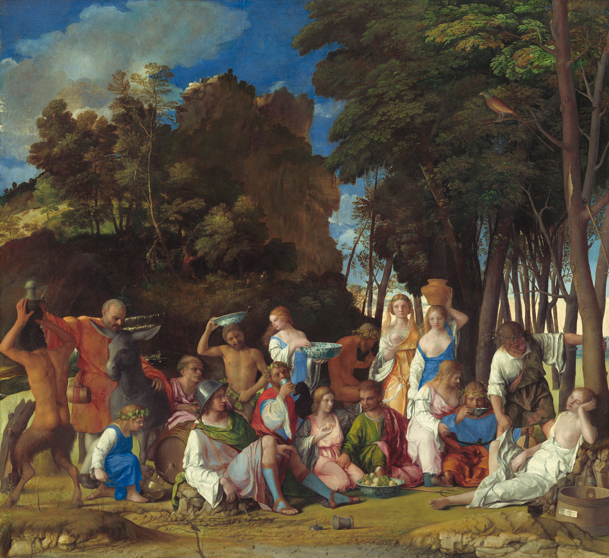 The Feast of the Gods, by Giovanni Bellini and Titian. / Image: National Gallery of Art