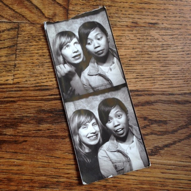 Throwing it way back to 2008 (?) when the photo booth at the Drake was reliable. Probably was playing a show with this one. Miss those early infinite music days sometimes. Life, y'know? #tbt #forestcitylovers #ohbijou