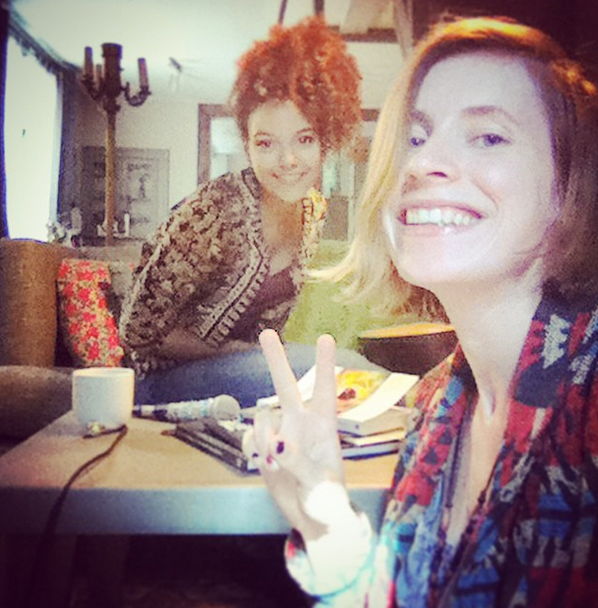 Hung out with the lovely spark that is Kizzy Crawford this morning and we wrote a couple jams. What a beautiful voice this one has, watch out for her.