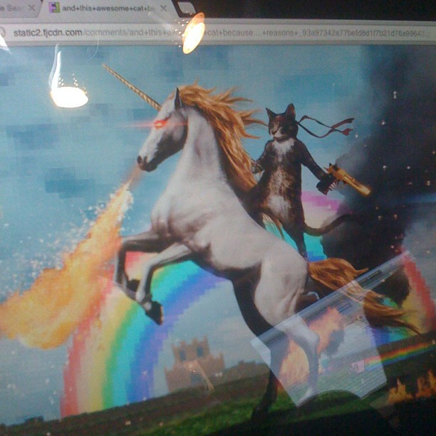 Back in studio. Today's inspiration for my vocals brought to you by Puss n Boots and his magical robotic unicorn.