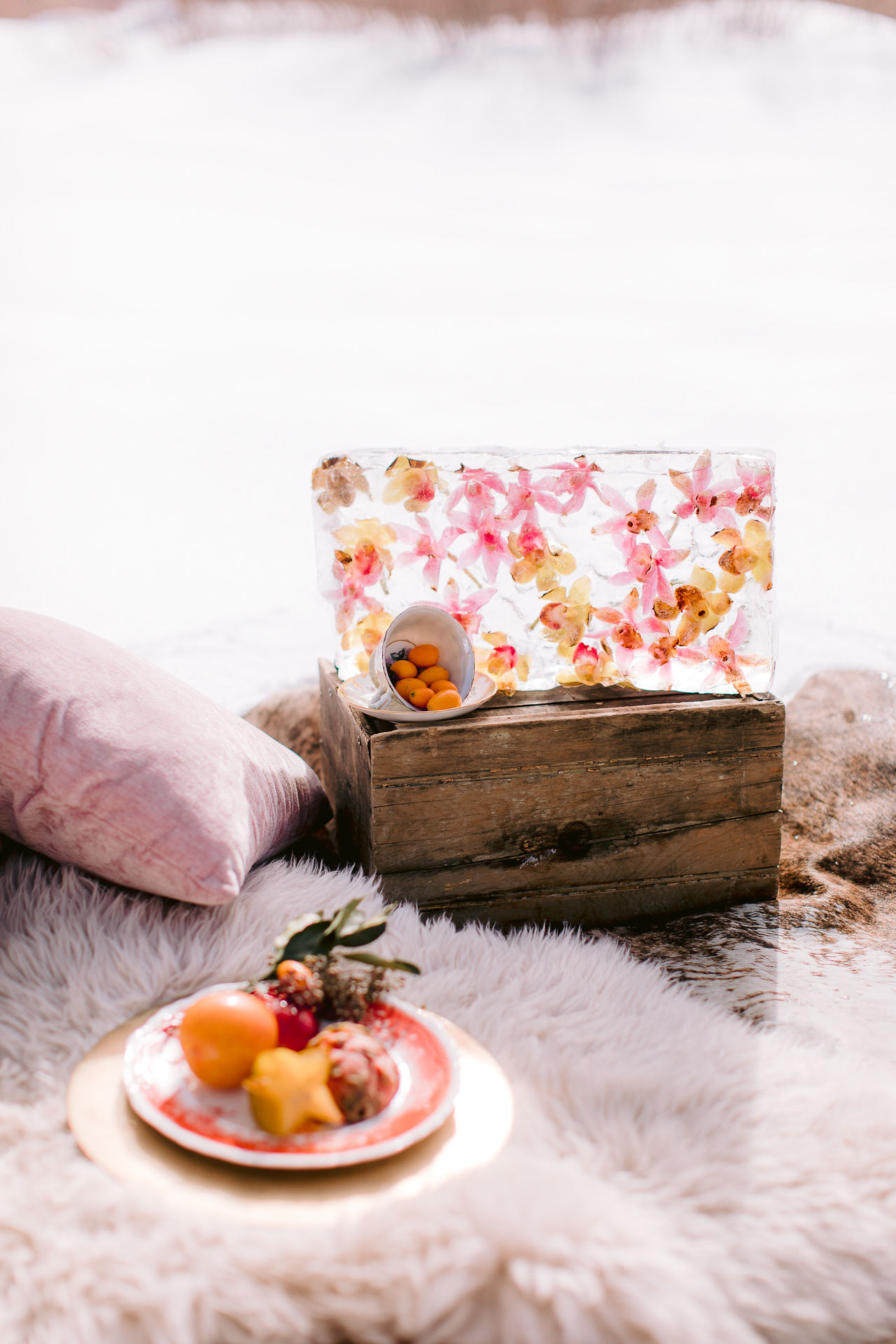 Heirlooms shoot_pink & peach picnic with frozen florals.jpg