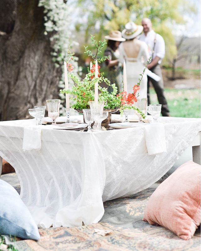 Looking forward to a sunny, rain free wedding weekend! . Photo @harounandsmith | Florals @linnaea_design | Rentals @violetmaedesign | Design, Styling & Decor @heirloomsdurango | Tabletop China @_dirtydishes | Ceremony @southwestceremony | Venue @riverbendranchdurango / @thesouthwestweddingbazaar