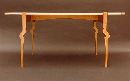 Table, Cherry and Tiger Maple, 1980