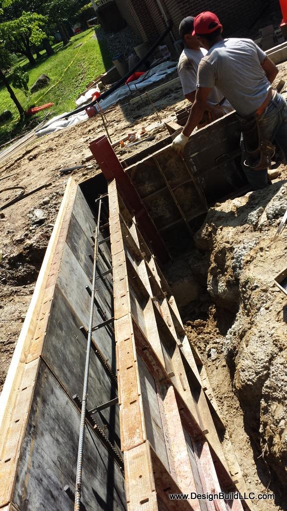 Forms Ready to Pour Concrete