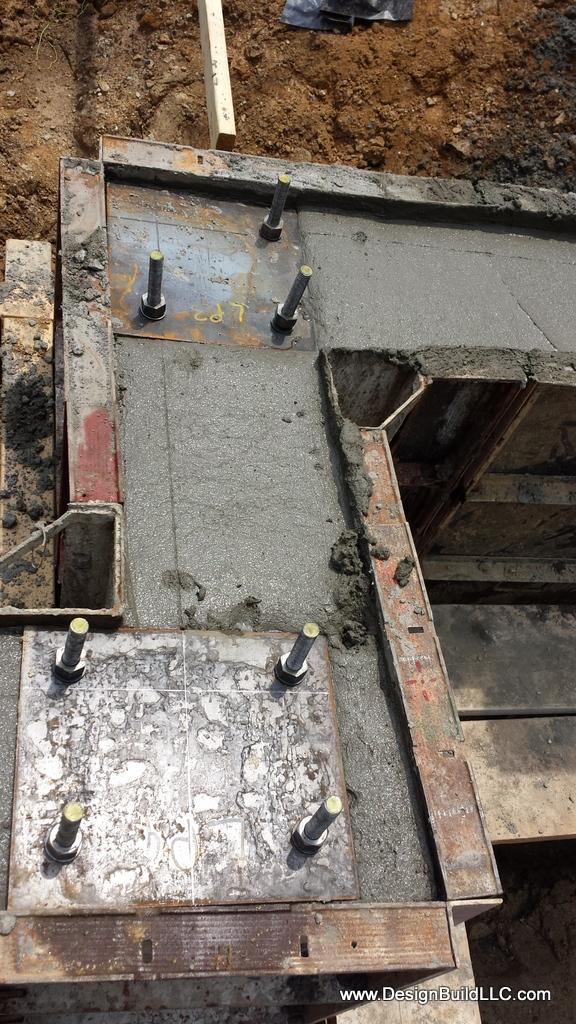 Concrete is poured
