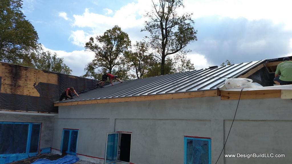 Metal standing seam roofing