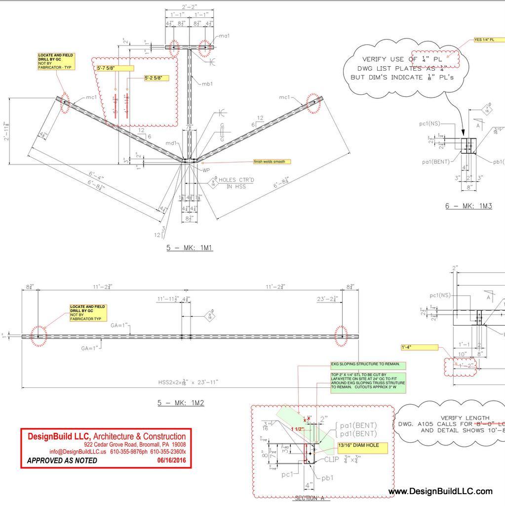 Shop drawings reviewed