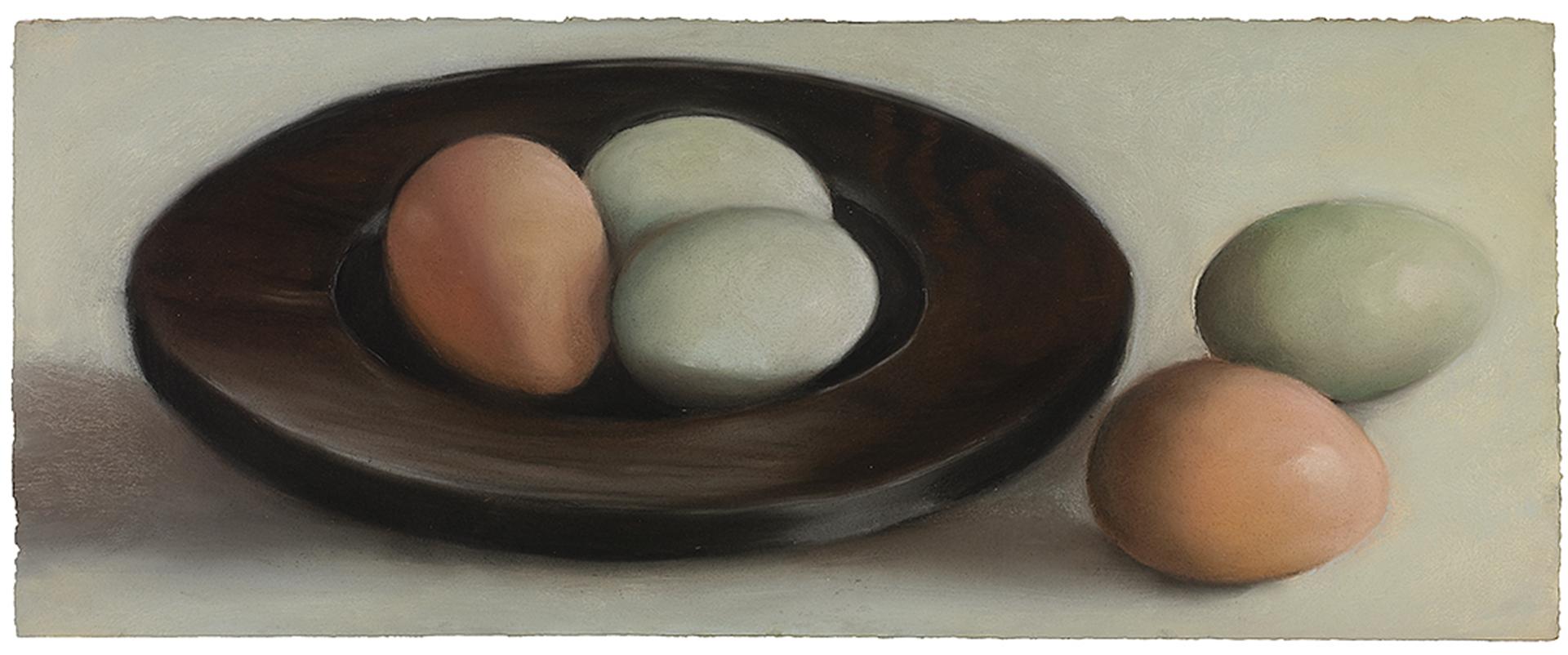 Eggs in Black Bowl