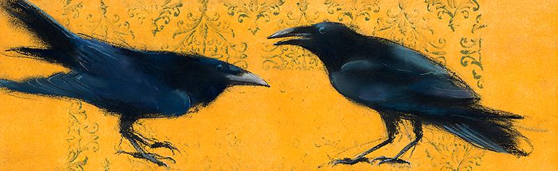 Horizontal Ravens on Yellow