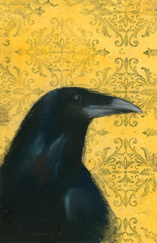 Raven on Yellow
