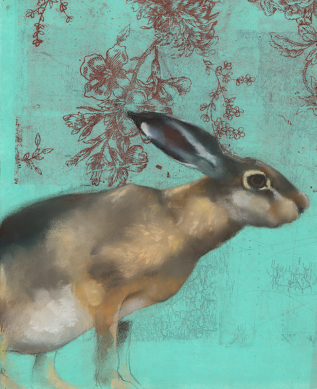 Hare on Turquoise