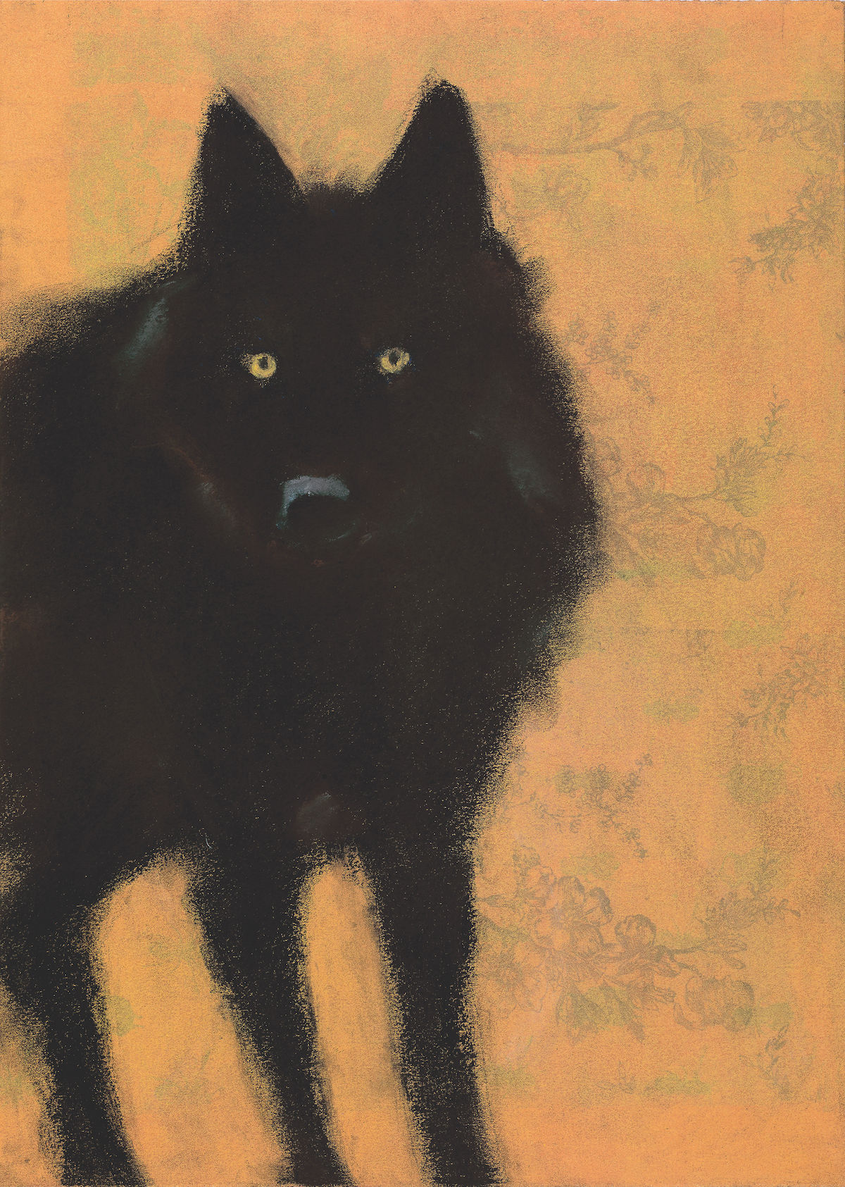 Wolf on Yellow