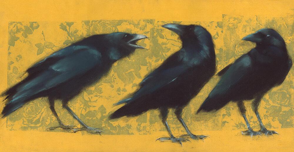 3 Ravens on Gold