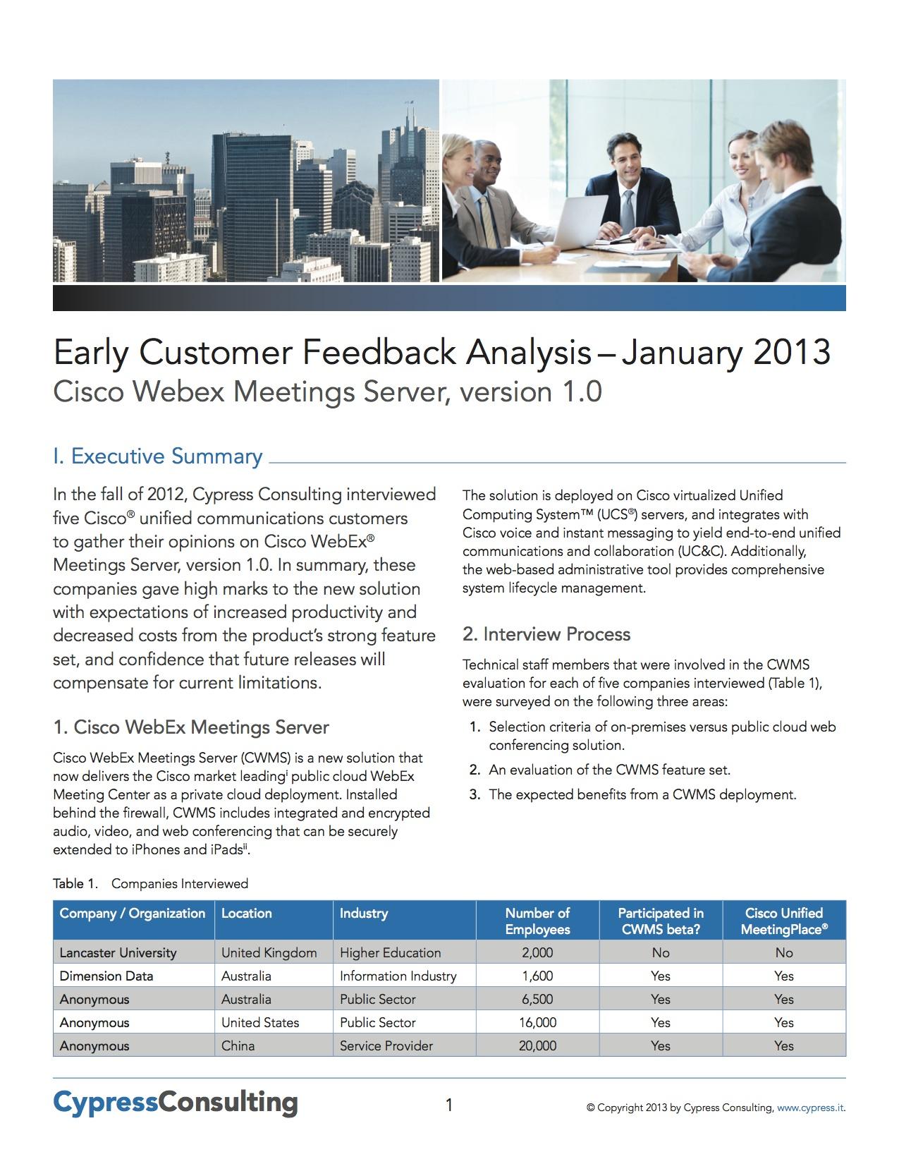 Cisco WebEx Customer Testimonials