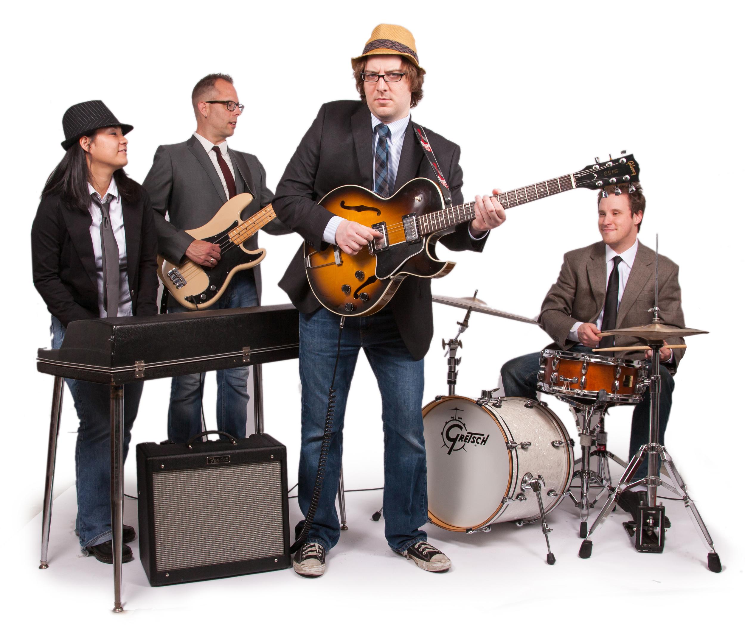 Adam Dalton & The B-Sides  - Kazuri Arai (Keyboards), Dean Marold (Bass), Adam Dalton (Guitar) & Austin Lauritsen (Drums)