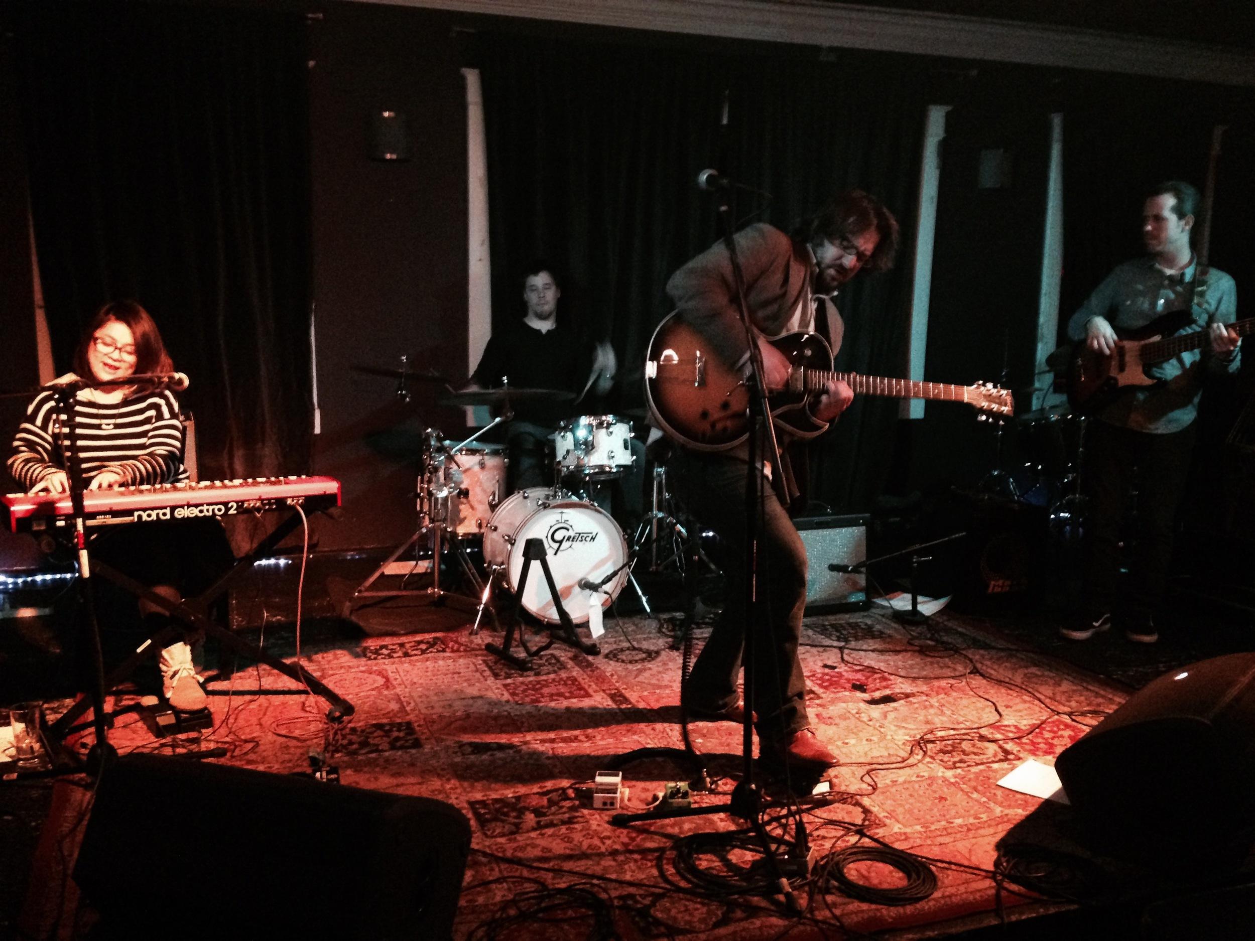 Kazuri Arai (Keyboard), Austin Lauritsen (Drums), Adam Dalton (Guitar) and Steo Britton (Bass)  Mad Donna's, Nashville, TN 1/9/15