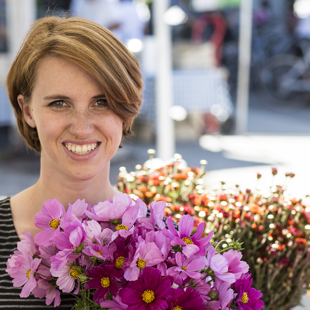 """What's your favorite flower?    """"I love orchids. We don't sell them… But I like them because they're so structural, almost like sculptures."""""""