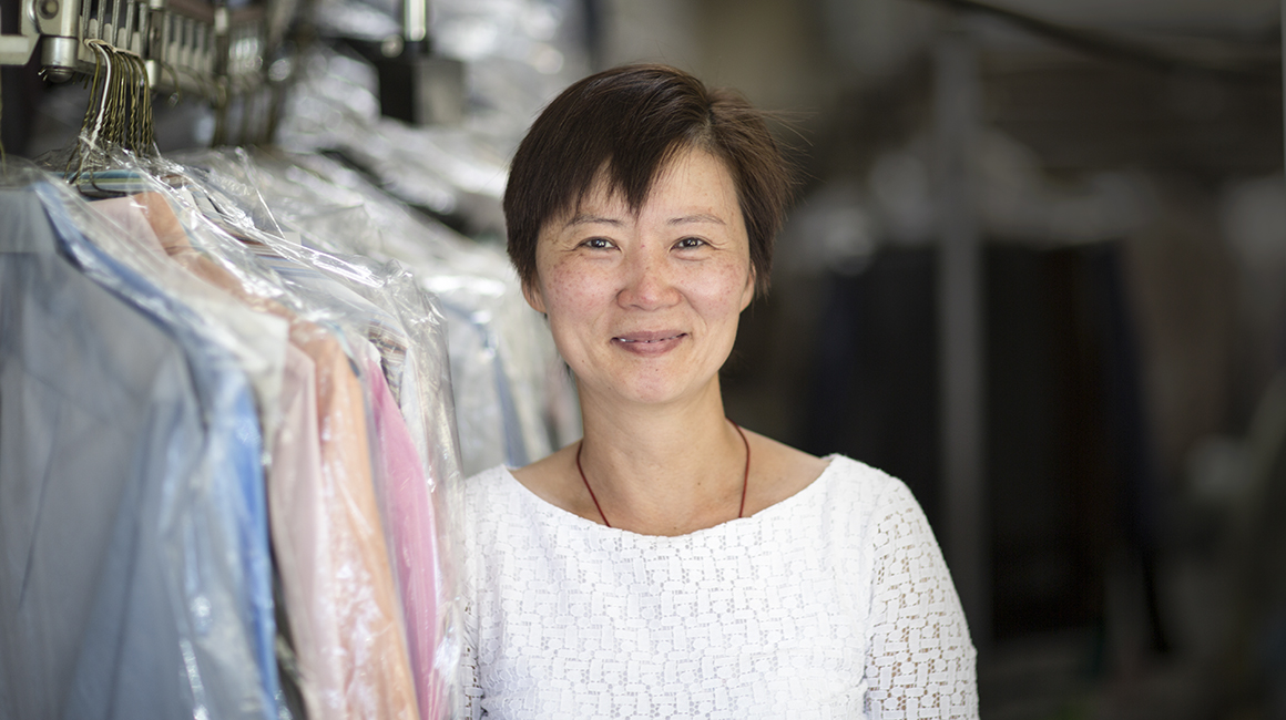 """What's the point of life?   """"I want to help other people. By cleaning clothes, I think I can help people, who then have more free time to enjoy their lives and their family."""""""