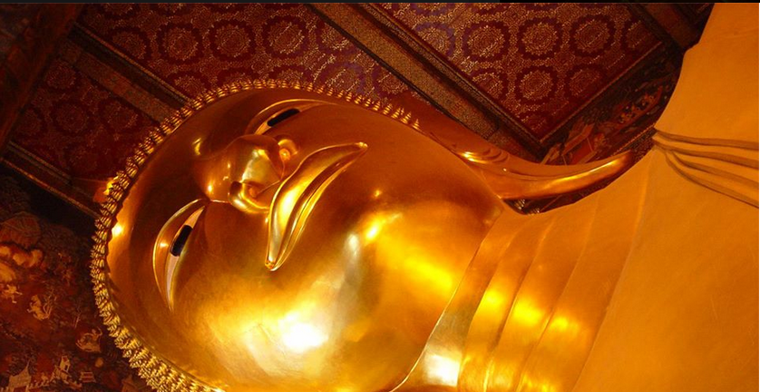 A picture of the reclining Buddha at Wat Pho in Bangkok, circulated over email or FB page does a great job an creating hype for the upcoming party.