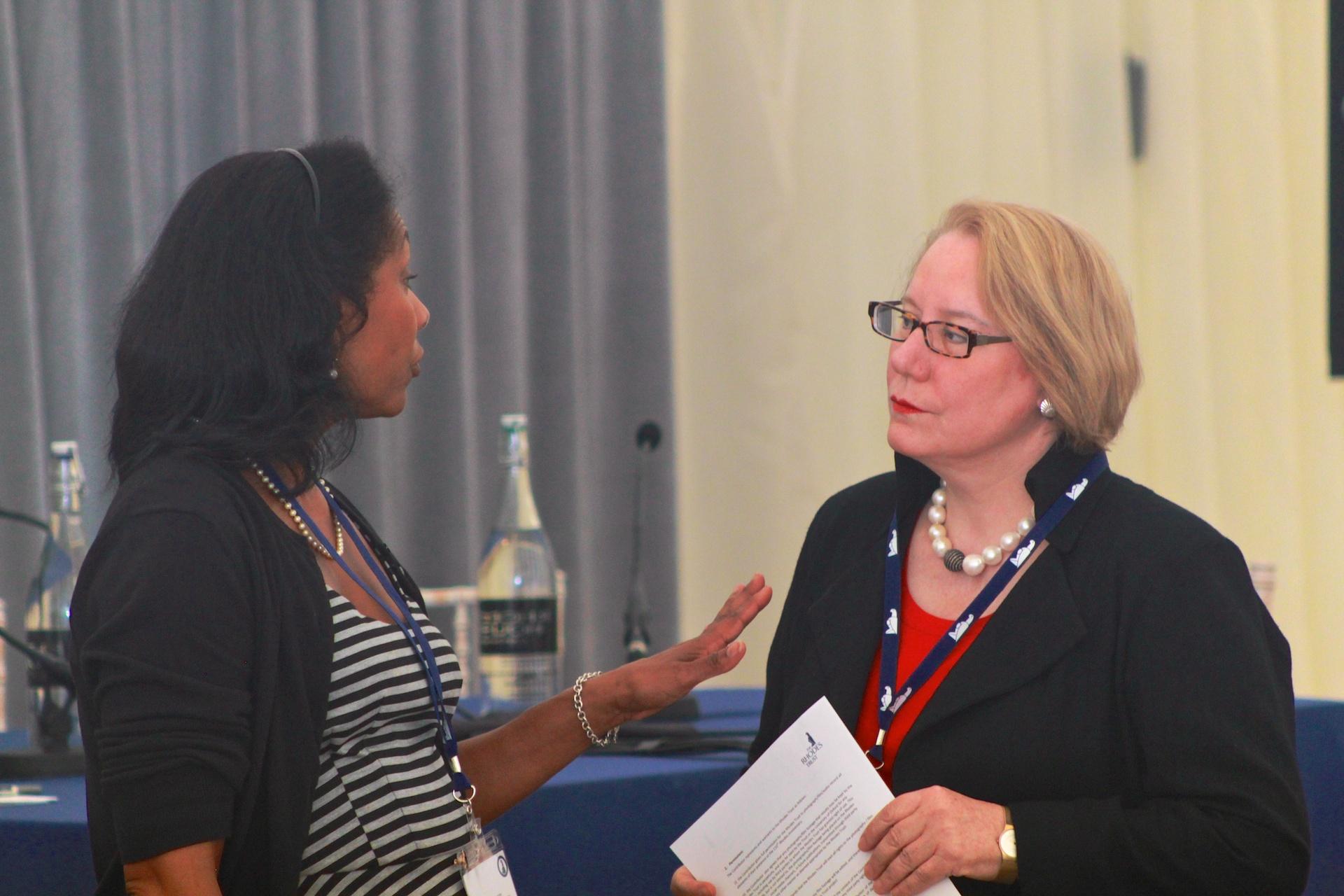 Karen Stevenson and Ann Olivarius. Photographed by Honza Cervenka.