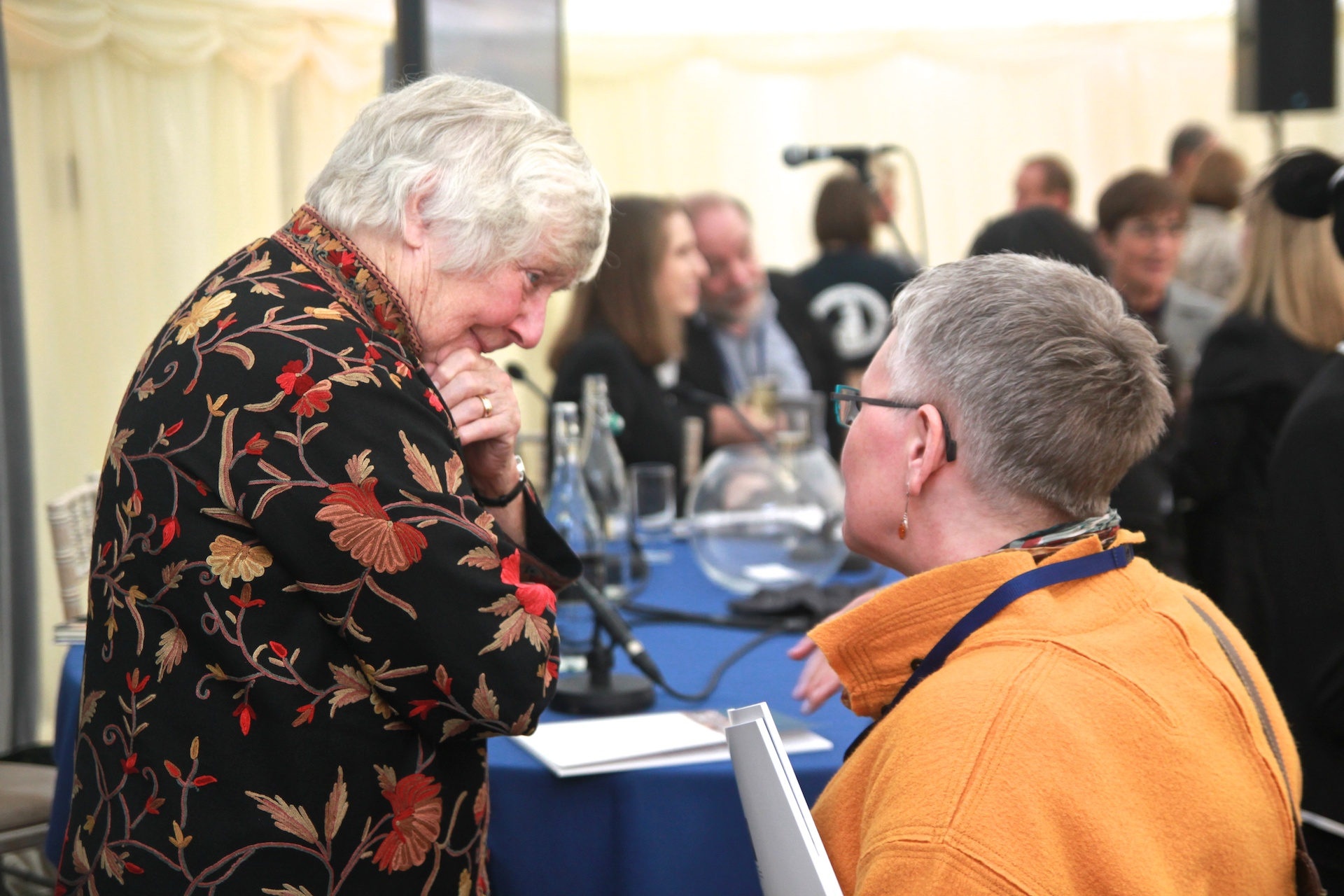 Dame Shirley Williams and Rhodes Project Director Susan Rudy. Photographed by Honza Cervenka.