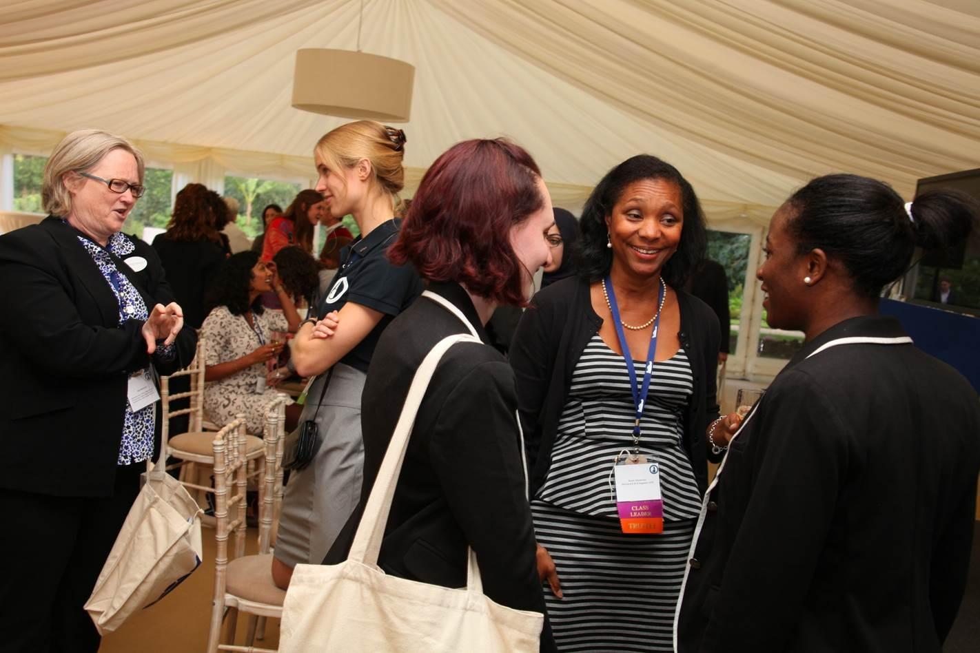 Dr Kate Blackmon (far left), Karen Stevenson and Rhodes Project staff Zoe Johannes and Emefa Agawu, Courtesy of Rhodes House.