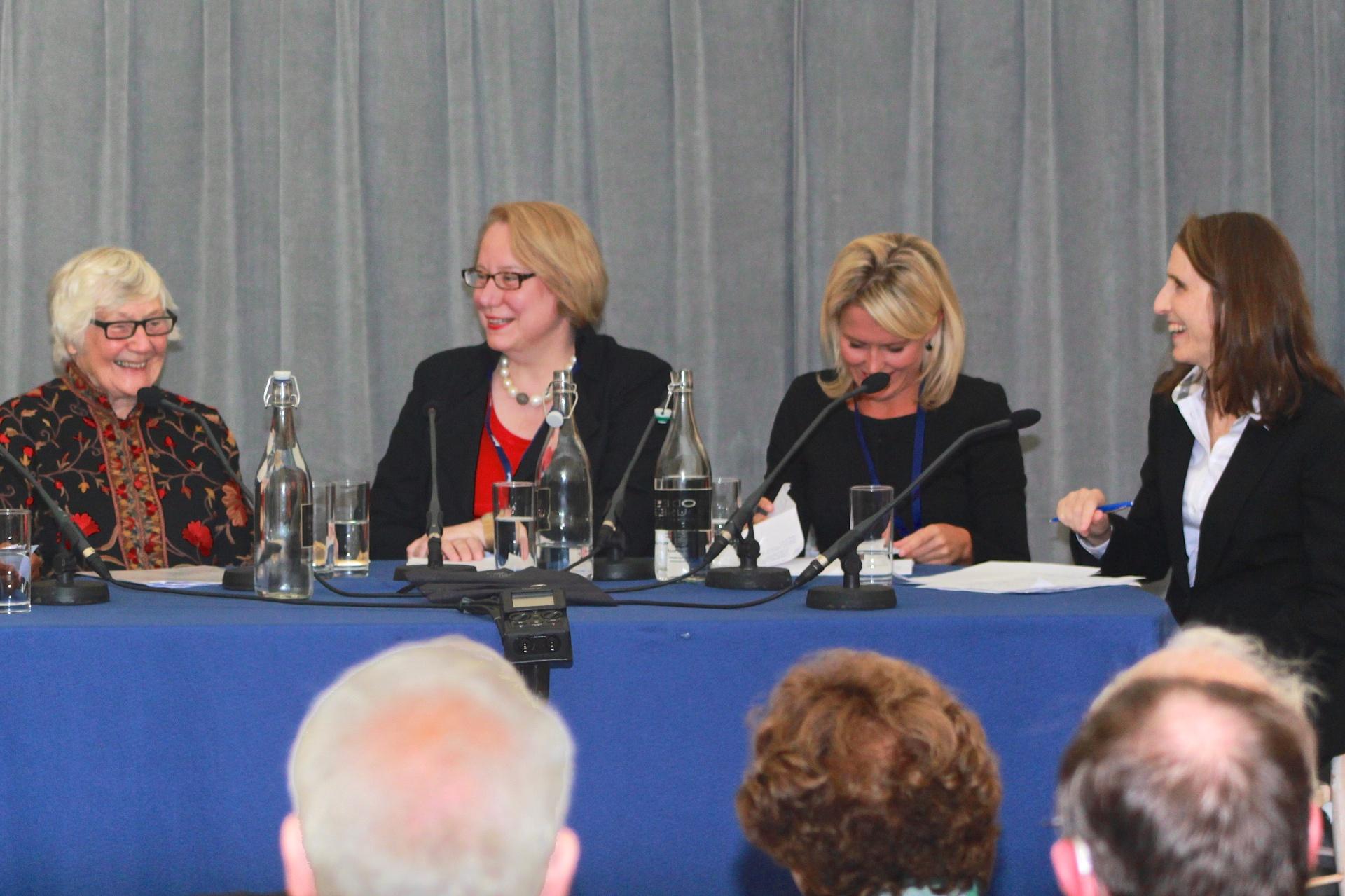 Panelists Dame Shirley Williams, Ann Olivarius, Jennifer Robinson and Michele Warman