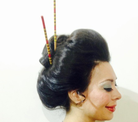 Rebecca as a Geisha Girl, Hair by Stanley Tines, Make Up by Nicole Greico, Photo Courtesy of Milton Buras