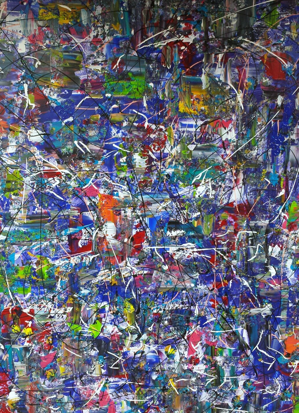 Rhapsody in Blue 1m30 x 1m50 - SOLD AT THE ART SQUARE EXPOSITION IN AMSTERDAM, TO A BRASILIAN LAWYER.