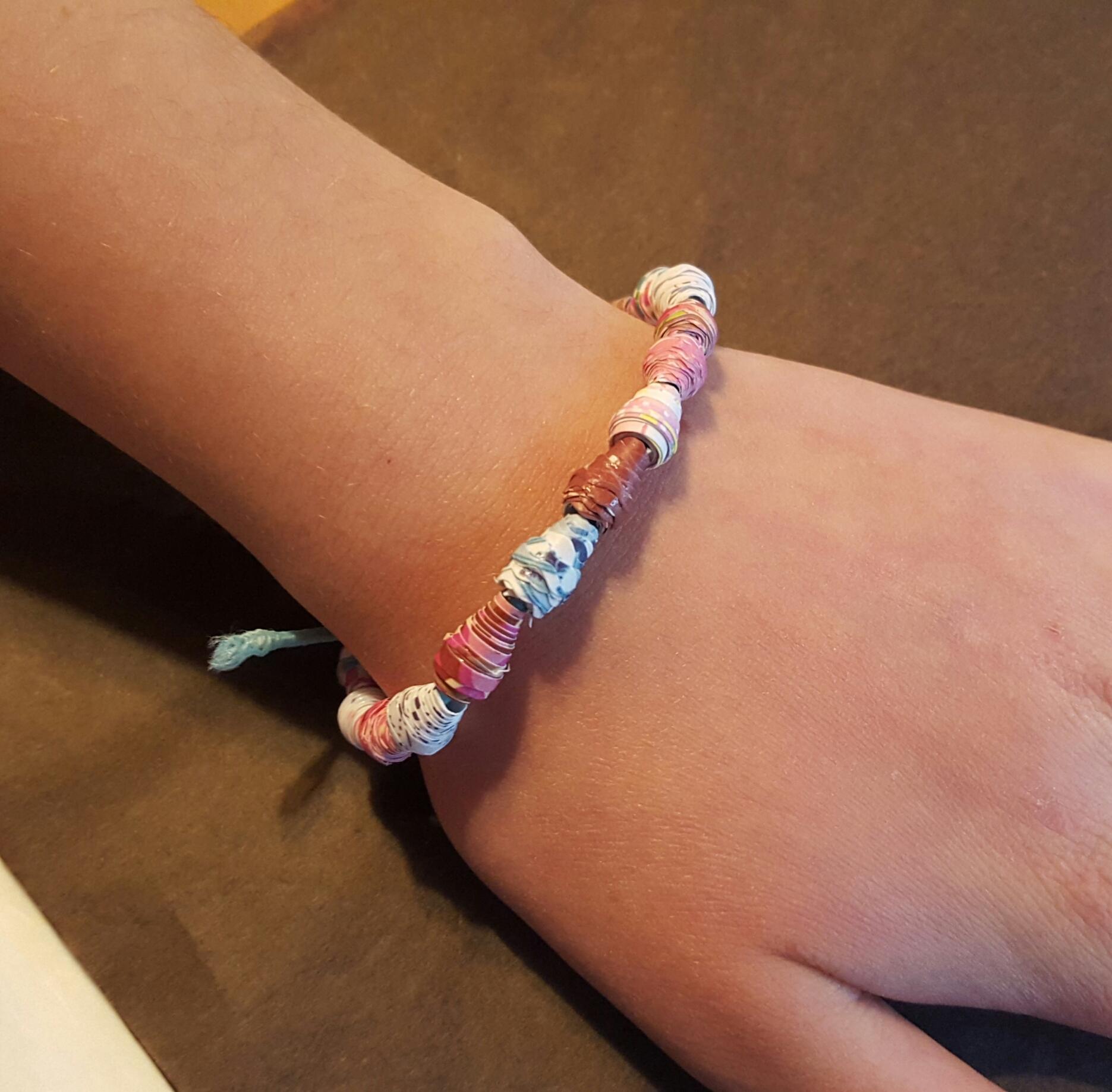Armbandje of haarband maken van papier - met Diana