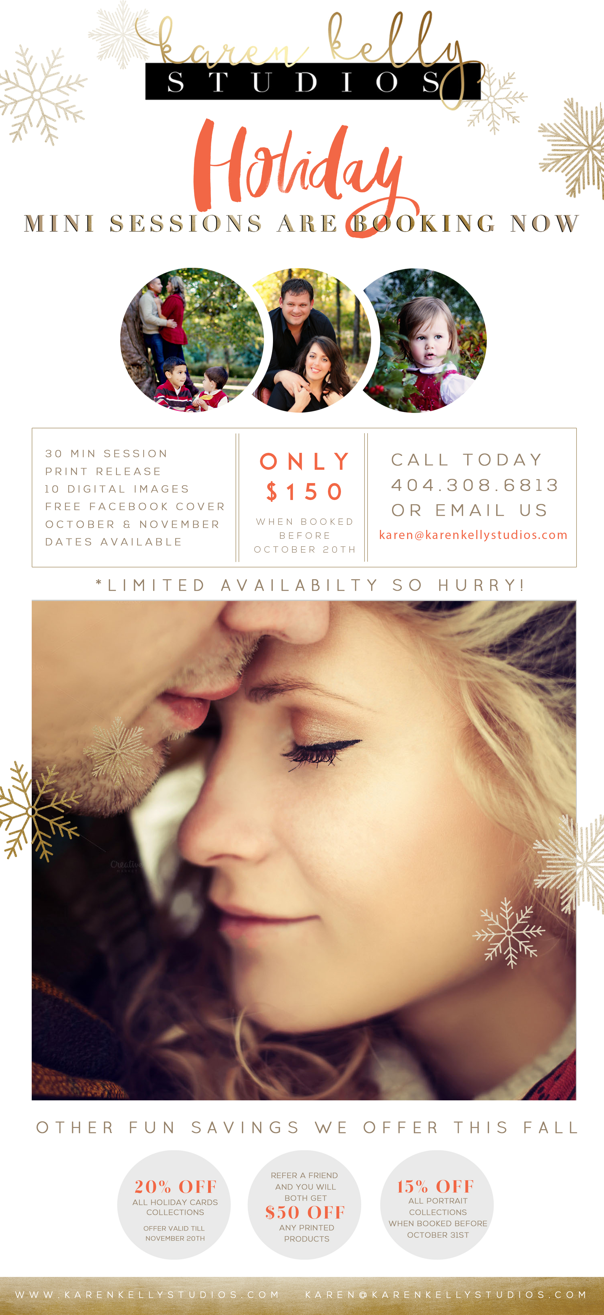 Karen Kelly Studios Holiday Sessions are now Booking!