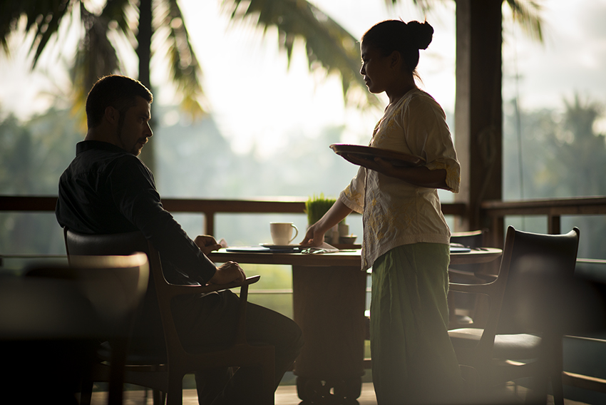 Bali luxury Resort, Chapung Sebali, morning coffee