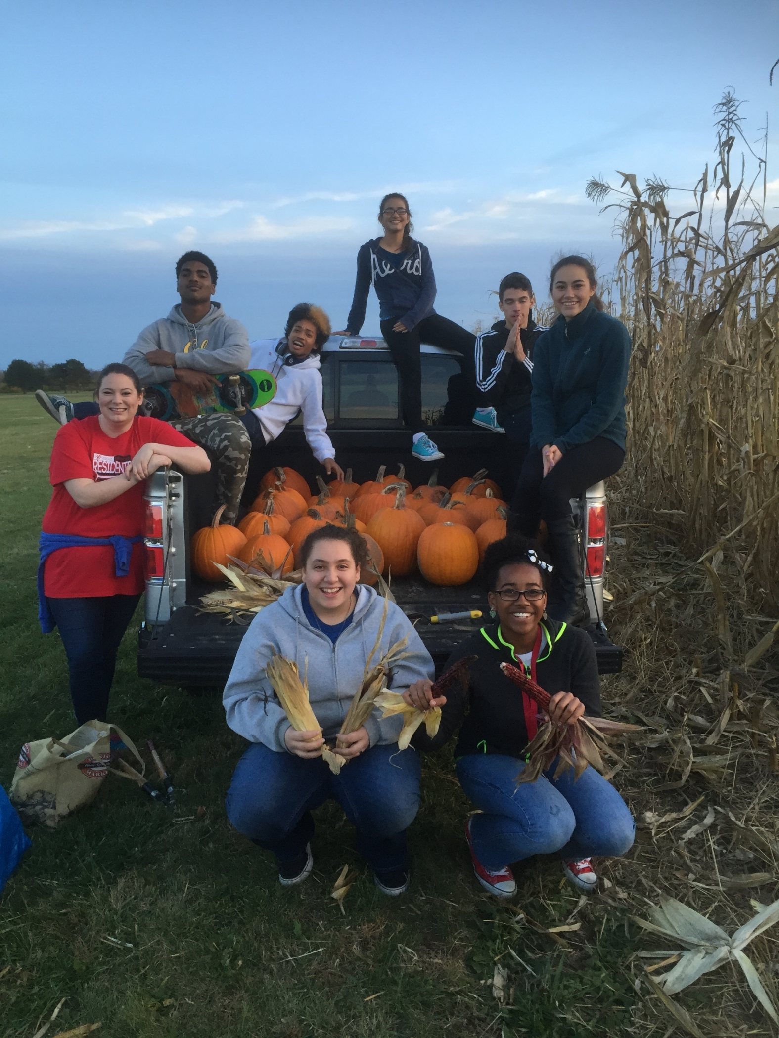 Christ United Methodist Youth Group bringing in the 2015 Fall season at the pumpkin patch.