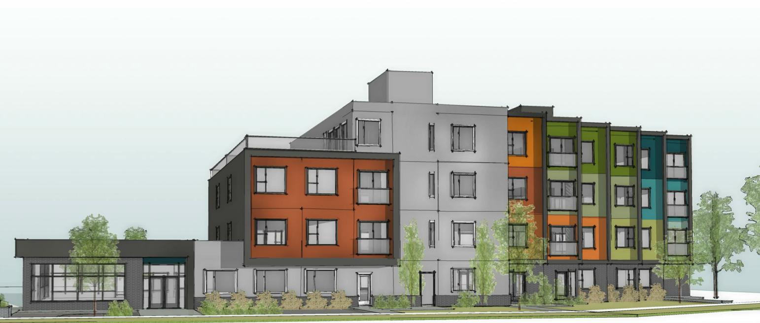Urban Green Cohousing, Edmonton, AB. Credit - DIALOG