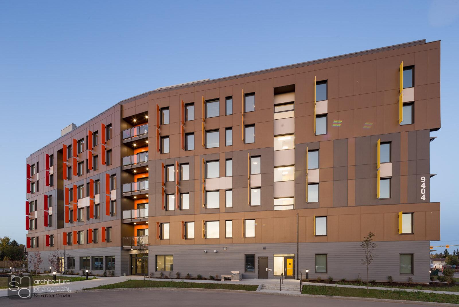 BC Housing 50-unit Passive House, Fort St. John, BC. Credit - WCPG