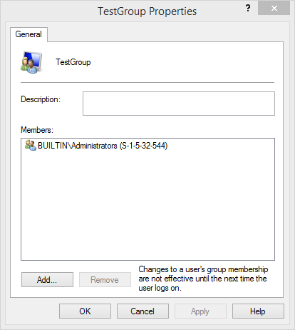 A local group within a local group on Windows 8.1