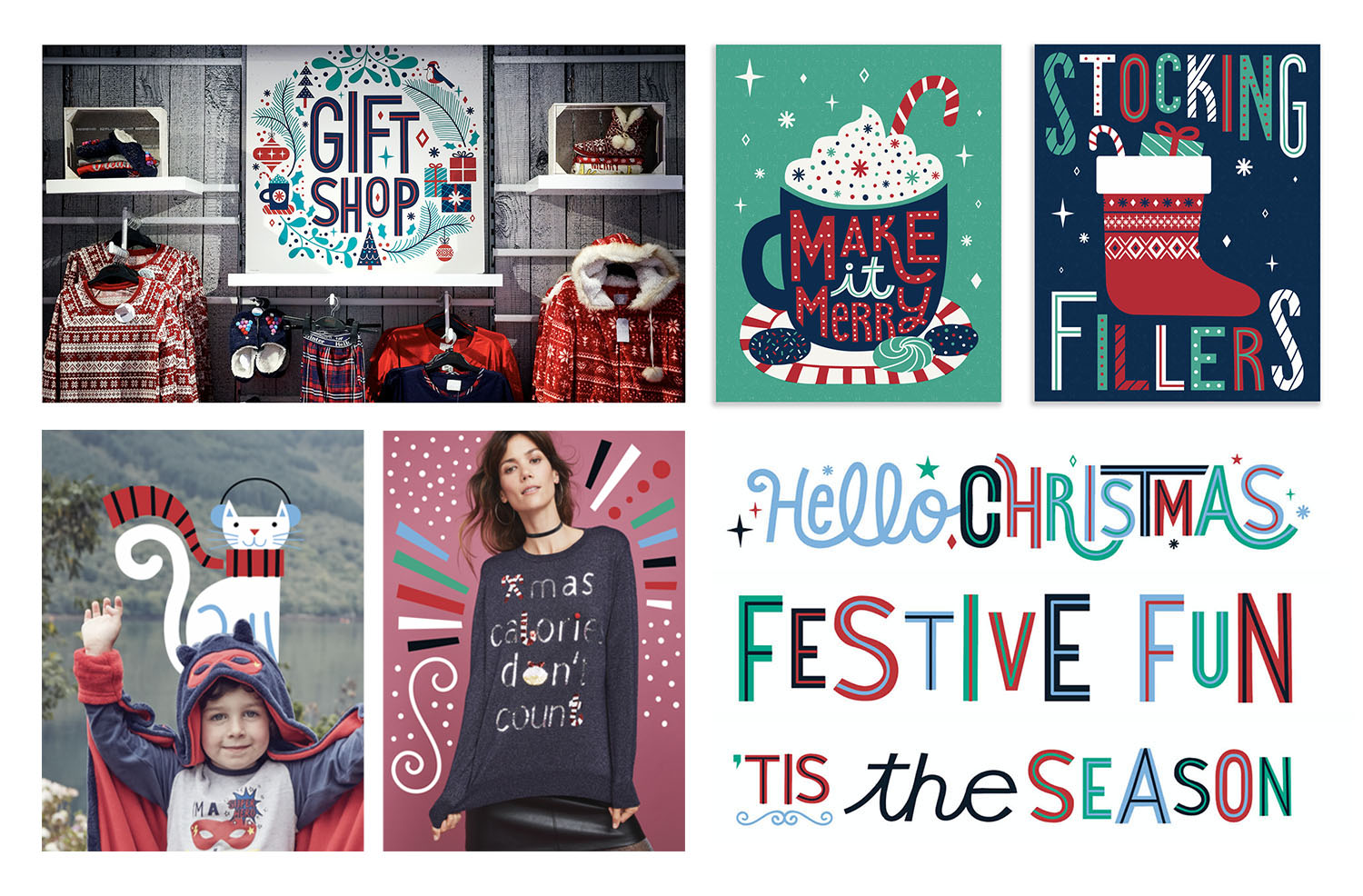 Holiday Branding, Packaging + Store Signage for MATALAN, UK