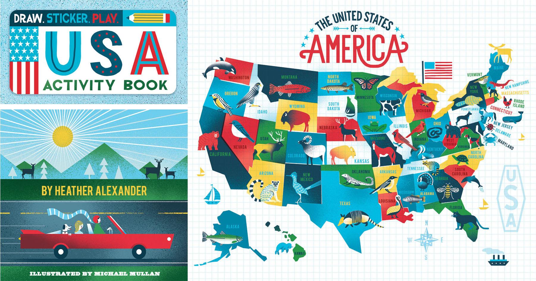 Draw, Sticker, Play USA Activity Book  for Quarto Press + Ivy Kids, UK