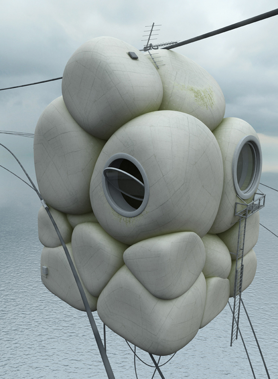 Concrete Misplots: Inflated House
