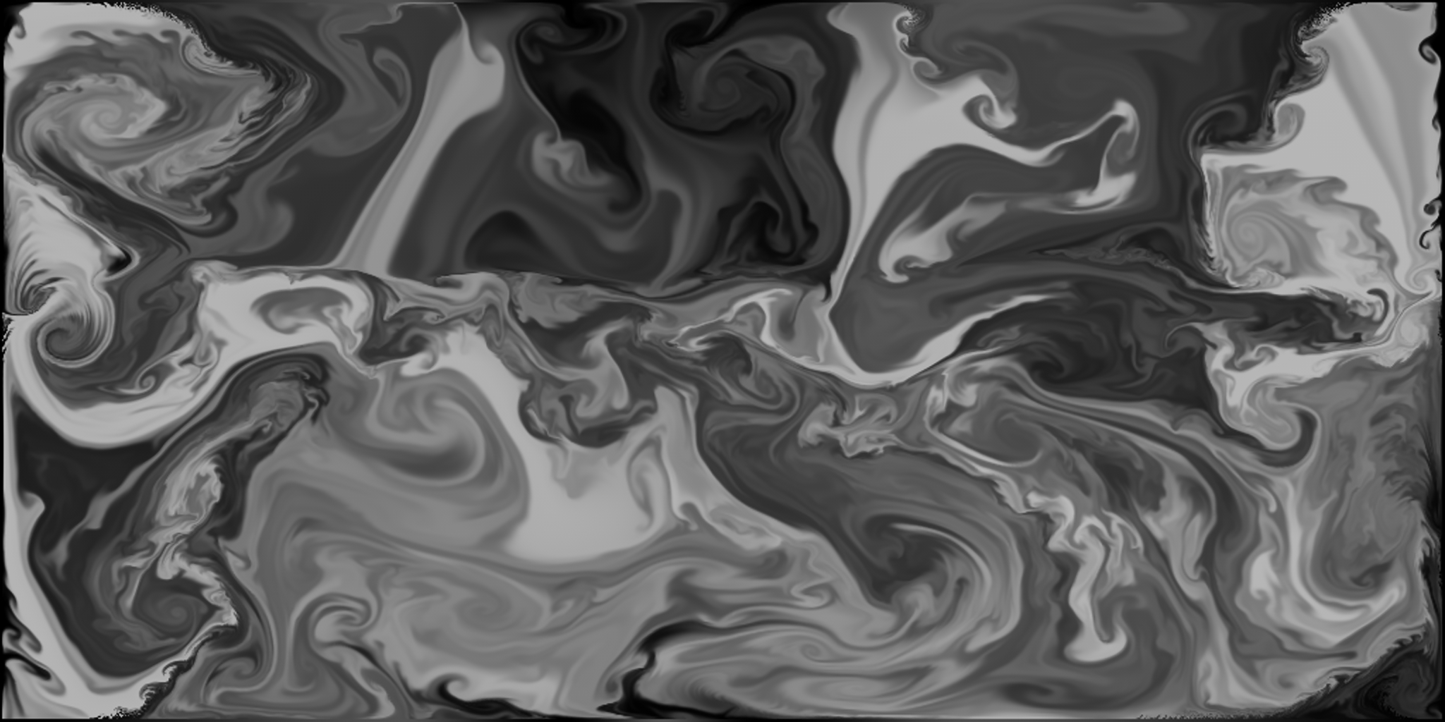 A frame from our animated 'swirling surface' texture. Created with Remotion PhyFluid plugin for C4D
