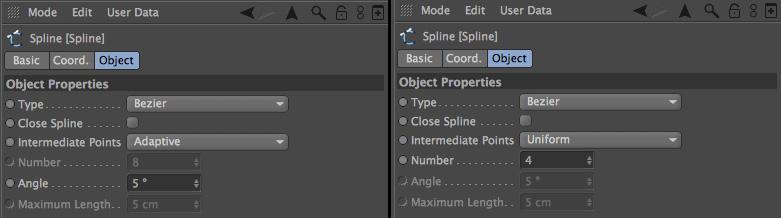 Spline Intermediate Points and Subdivision