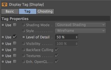 Display Tag Attributes