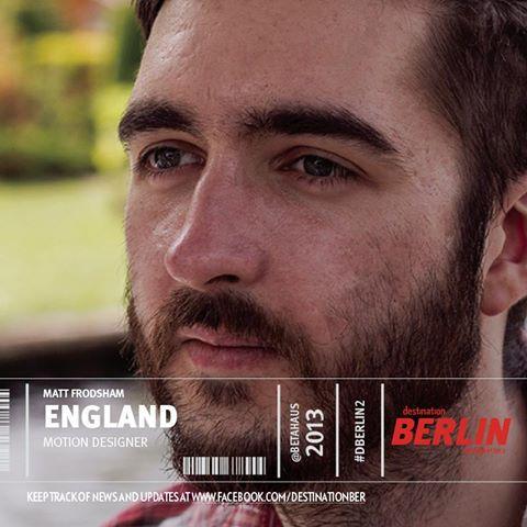 Matt Frodsham Motion Designer Portrait