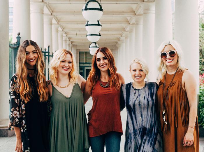 Stylist Alisha Burns, Esthetician Caitlin Hart, Stylist Ray Taaffe, Stylist Mallory Granrath and Stylist Amanda Foster   Photo by Lauren Roberts