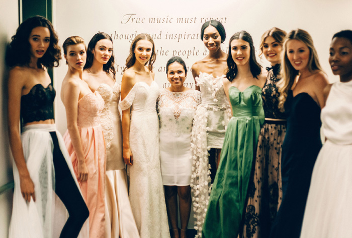 Group Shot of the Models and Olga, Vice President of Olia Zavozina | Photo by Lauren Roberts