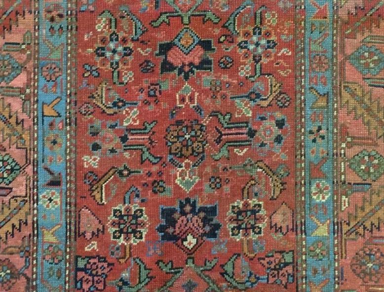 1880's antique  Kurdish Runner - Herati Tribal Rug from Rouzati Rugs