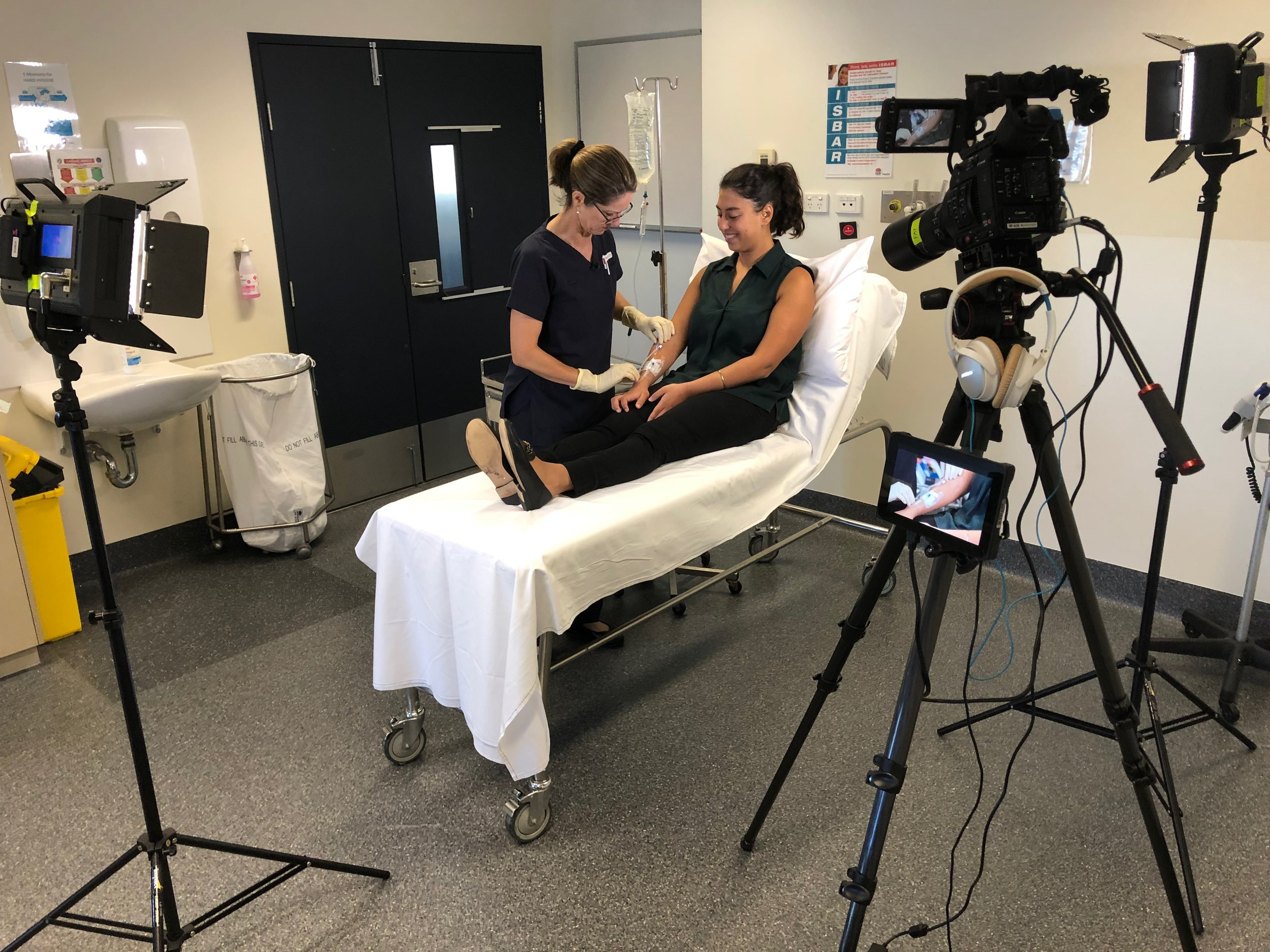 Filming educational medical clinical videos