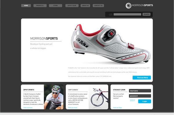 Morrison Sports online shop (click to enlarge)