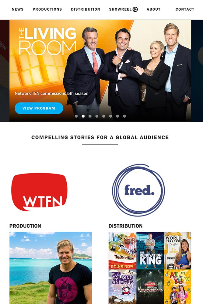 WTFN Entertainment    WTFN is a global TV producer that needed to combine multiple brands into a cohesive international presence to increase awareness and sales conversions.   VIEW PROJECT