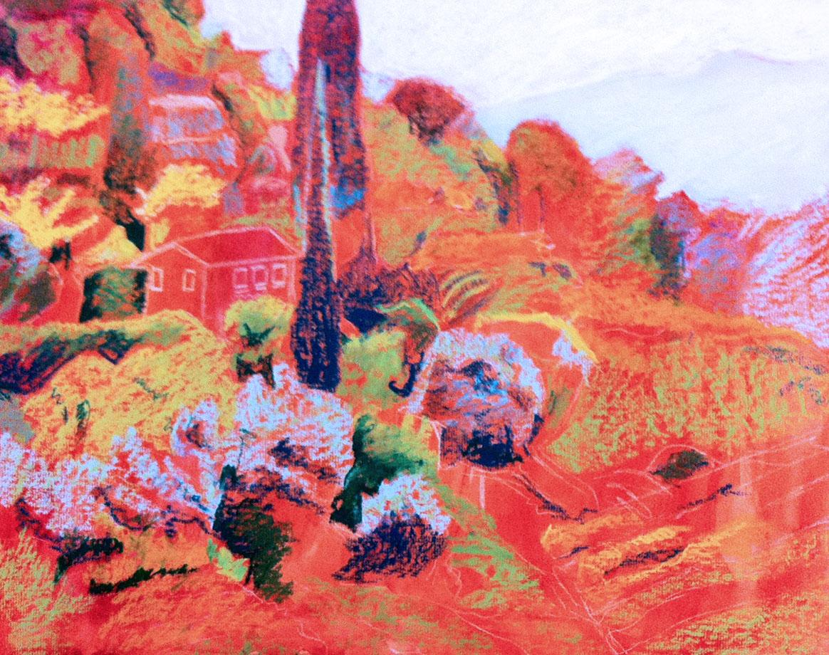 WIP: Italian landscape - Block-in